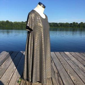 Lularoe limited edition grey shimmer Carly dress